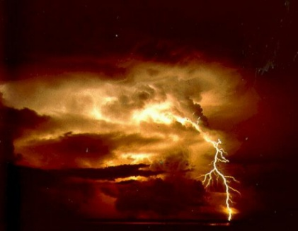Lightning: dangerous with or without your cell phone.  