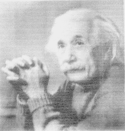 [A CARBON NANOTUBE INK PRINT OF EINSTEIN. CREDIT: K. KORDAS AND G. TOTH, UNIVERSITY OF OULU]
