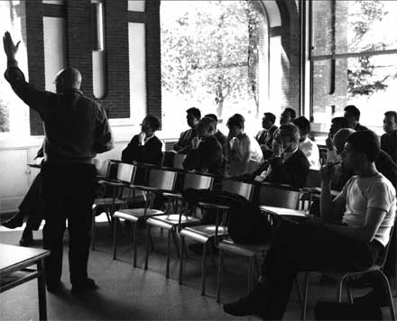 Mathematician Alexandre Grothendieck teaching in an undated photo. [CREDIT: ihes.fr]