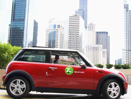 A Mini-Cooper Zipcar. [CREDIT: ZIPCAR]