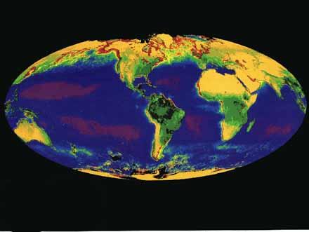 A global climate model. [CREDIT: NASA]