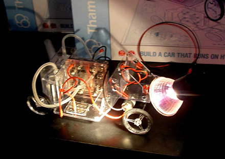 A Fuel Cell car by Thames and Kosmos -- get the kids ready. [CREDIT: BEN LEACH]