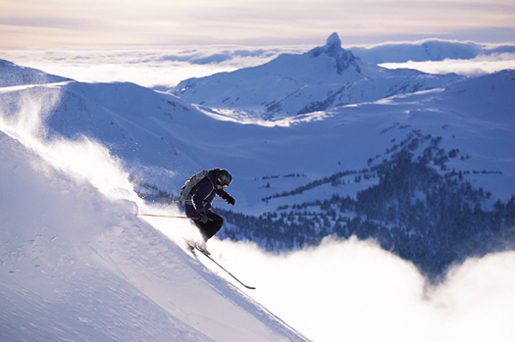 Skiing at Whistler Mountain, in British Columbia--part of the Canadian Rockies. [CREDIT: Cadian Mountain Experience]