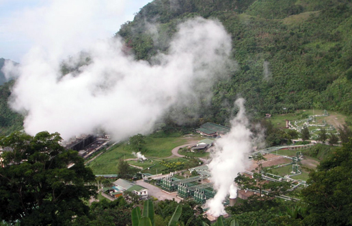 Palinpinon Geothermal power plant in Valencia, Negros Oriental, Philippines. [CREDIT: WIKIPEDIA].