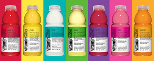 A rainbow of flavors. [Credit: Glaceau Vitamin Water]