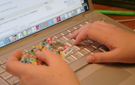 Cryptography enables secure online shopping. [Credit: Jessie Birks]