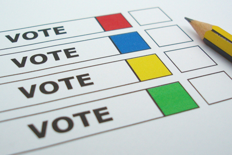 A New York University study may shed new light on what influences voters' decisions in an election. [Credit: Steve Woods]