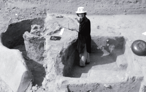 Rita Wright, who also specializes in ceramics, partially excavated a kiln in Pakistan. [Credit: Rita Wright]