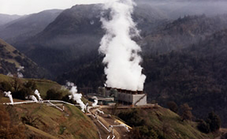 A geothermal power plant at The Geysers in California [U.S. Department of Energy]