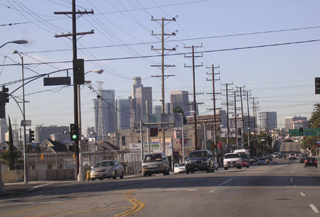 The City of Angels, an unsuspecting recipient of environmental accolades. <br> [credit: Christopher Intagliata]