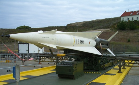 A Nike missile on a restored base in the California Marin Headlands.  Government officials will soon need to deal with the United States' aging nuclear arsenal.  [Credit: Todd Lappin, flickr.com].