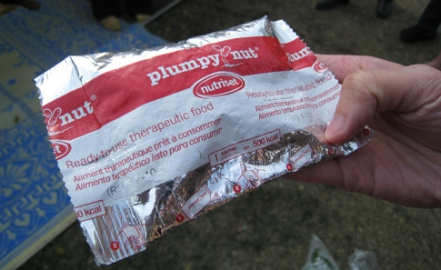 Scientists and humanitarians dispute the best way to use Plumpy'nut, a nutritional supplement for <br> malnourished children [Credit: mastermaq, flickr.com].