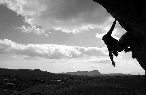 Rock climbing and other extreme sports put athletes at risk of serious injury or death. Psychologists are <br>studying the reasons that drive people to such extremes. [Credit: Carl A, flickr.com]