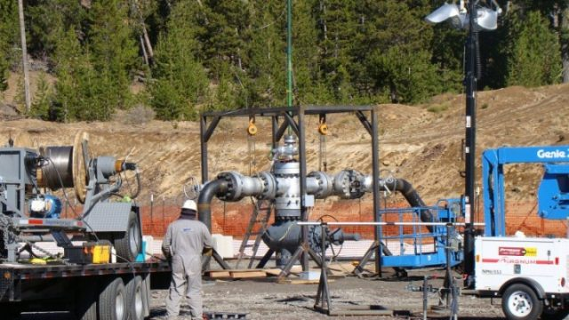 Injection well with AltaRock drillers