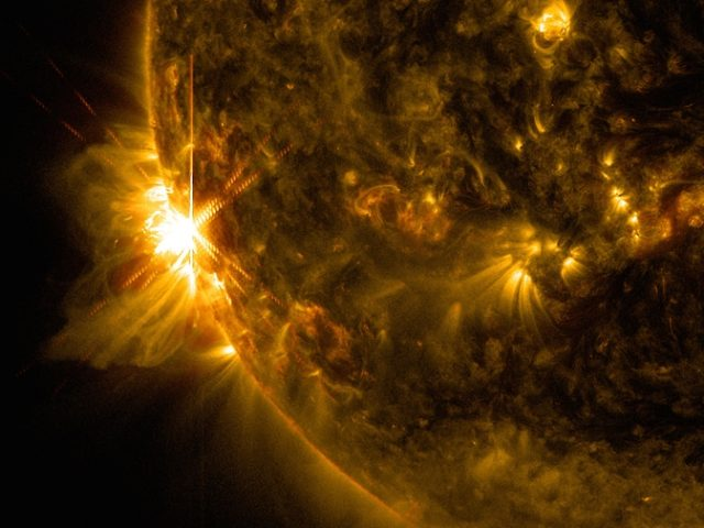 SNAPSHOT: A succession of solar flares