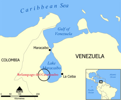 Location of the Relampago del Catatumbo. Wikimedia Commons/Alexandra Ossola