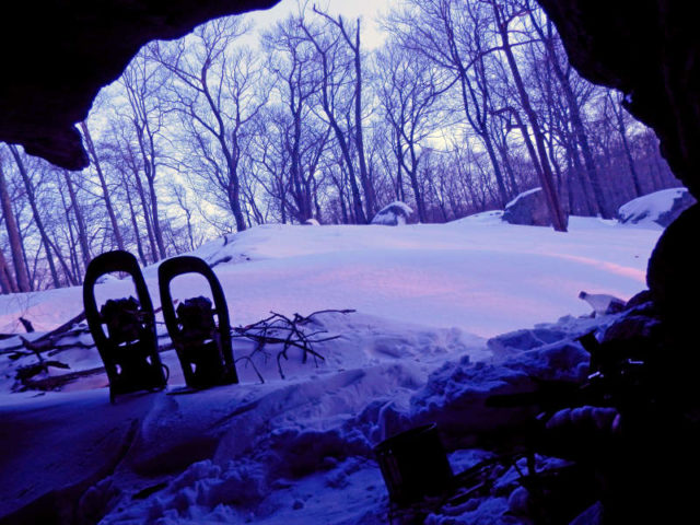 Morning view from a snowy camping trip in Harriman State Park. Image credit Bill Menke