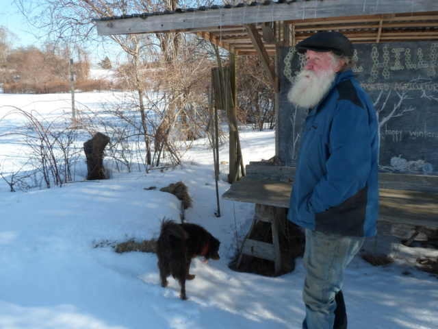 Chaskey looks out at the frozen 30-acre Quail Hill Farm, ready to dive into spring. [Image credit: Lauren Young]