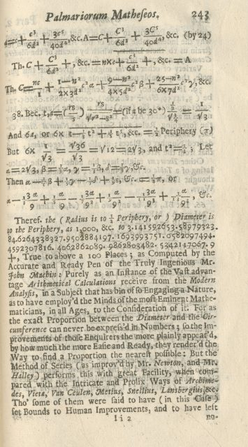 In which William Jones can't quite decide if he wants to invent π. [Image courtesy Archives and Special Collections, Bangor University]