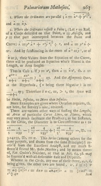 William Jones gets down to business, saving future mathematicians from representing a number with a clunky phrase. [Image courtesy Archives and Special Collections, Bangor University]