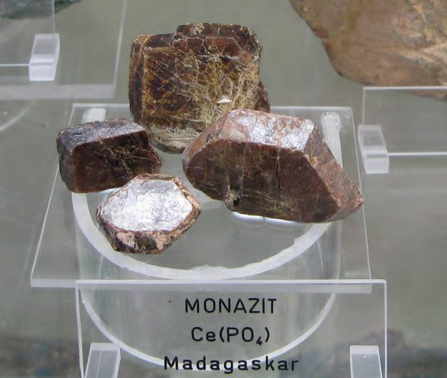 You can extract thulium from monazite ore. Why you'd want to, though, is beyond me. [Image credit: Ra'ike| CC BY-SA 3.0]
