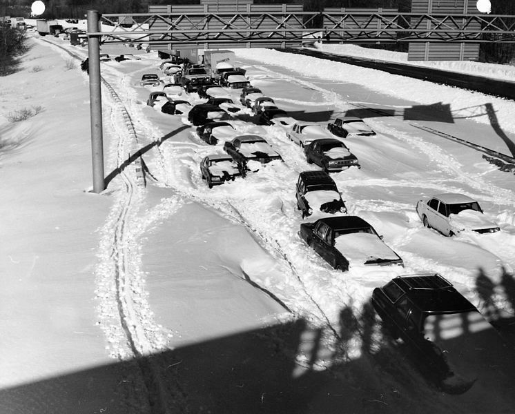 The Great Blizzard Of 1978 Forced People To Abandon Their Cars On A Massachusetts Highway Image Credit Jim McDevitt Photographer US Army Corps