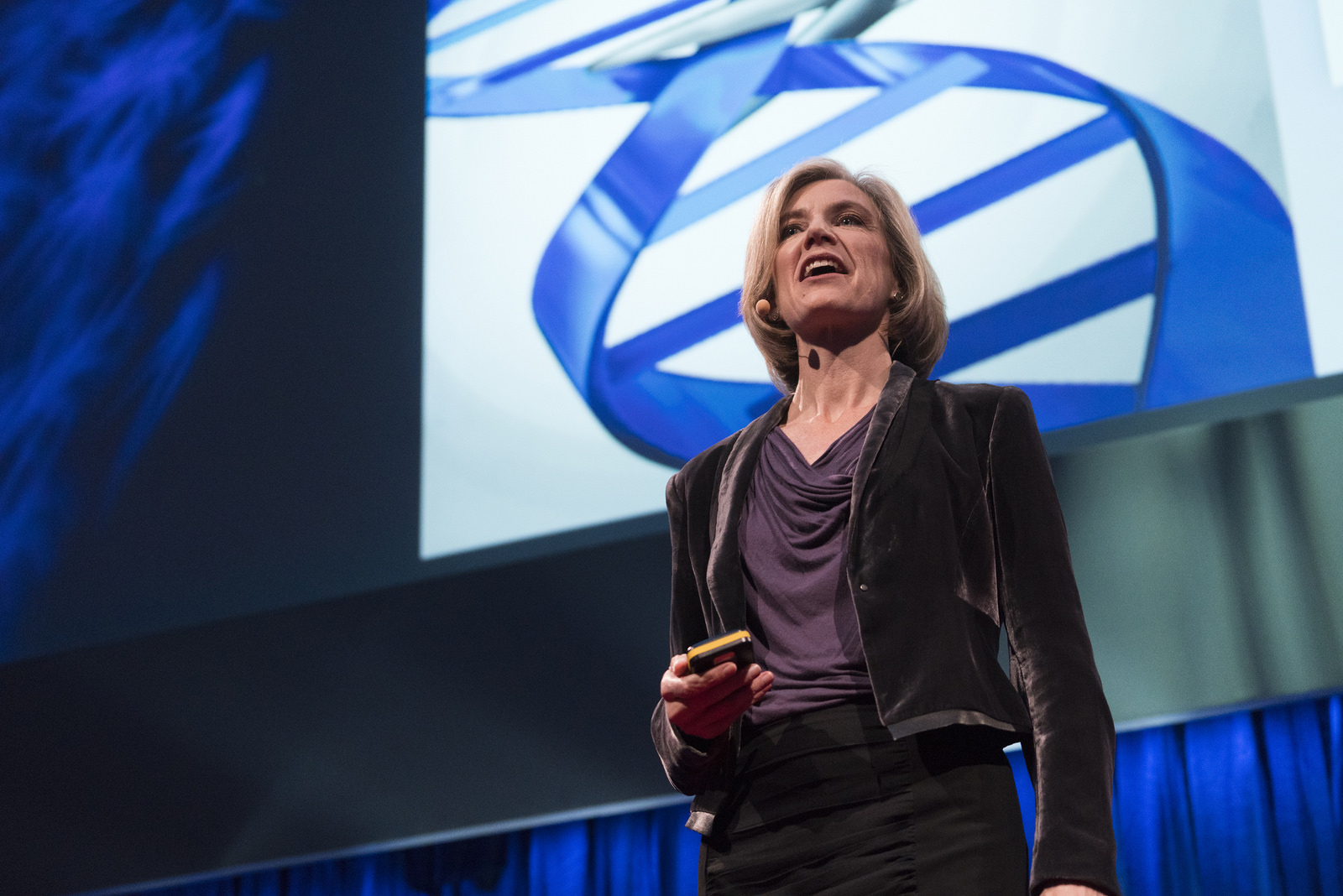 Biochemist Jennifer Doudna describes CRISPR Cas9 at TEDGlobal London, 2015.