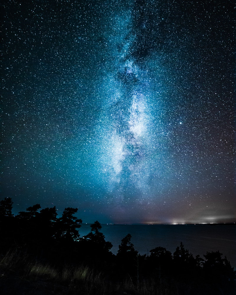 An image of the milky way, captured in Finland