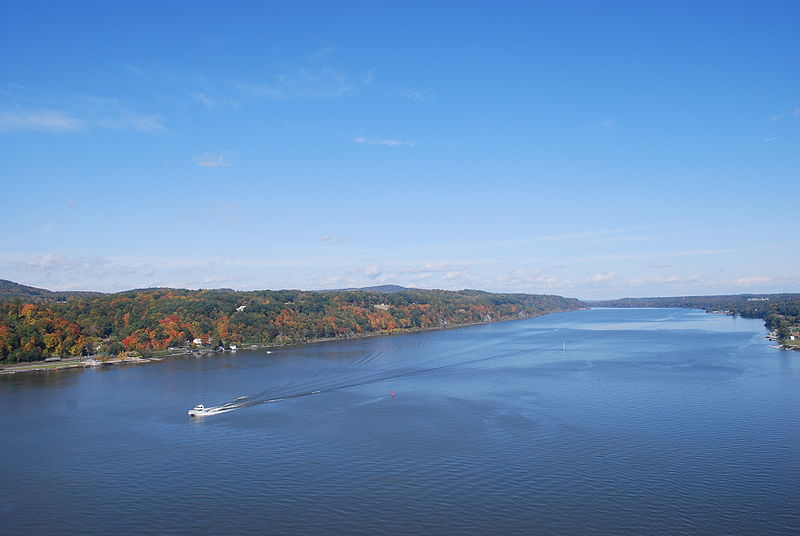 A view of the Hudson River.