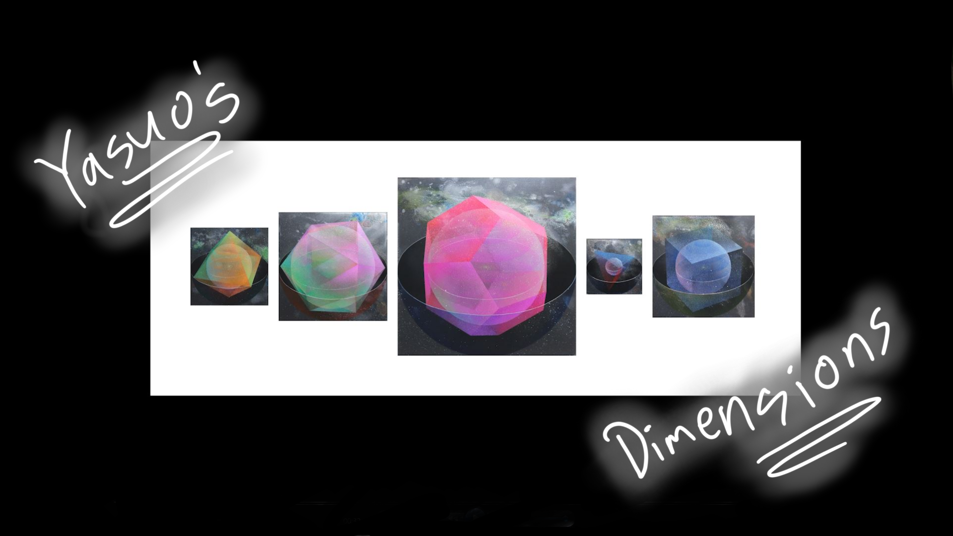 Paintings of 3-dimensional solids are the focus of this title sequence from Yasuo's Dimensions.
