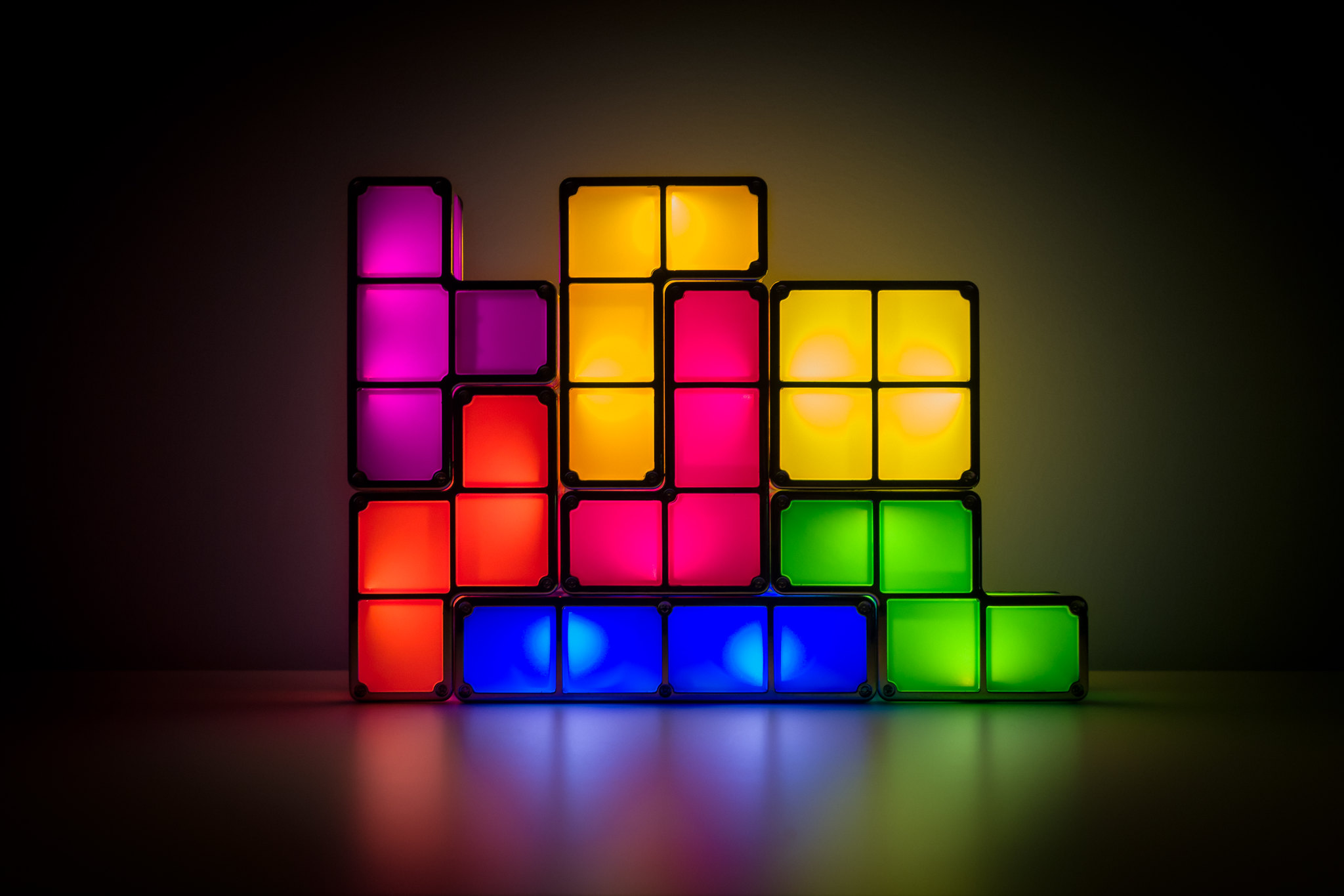 Tetris block lights