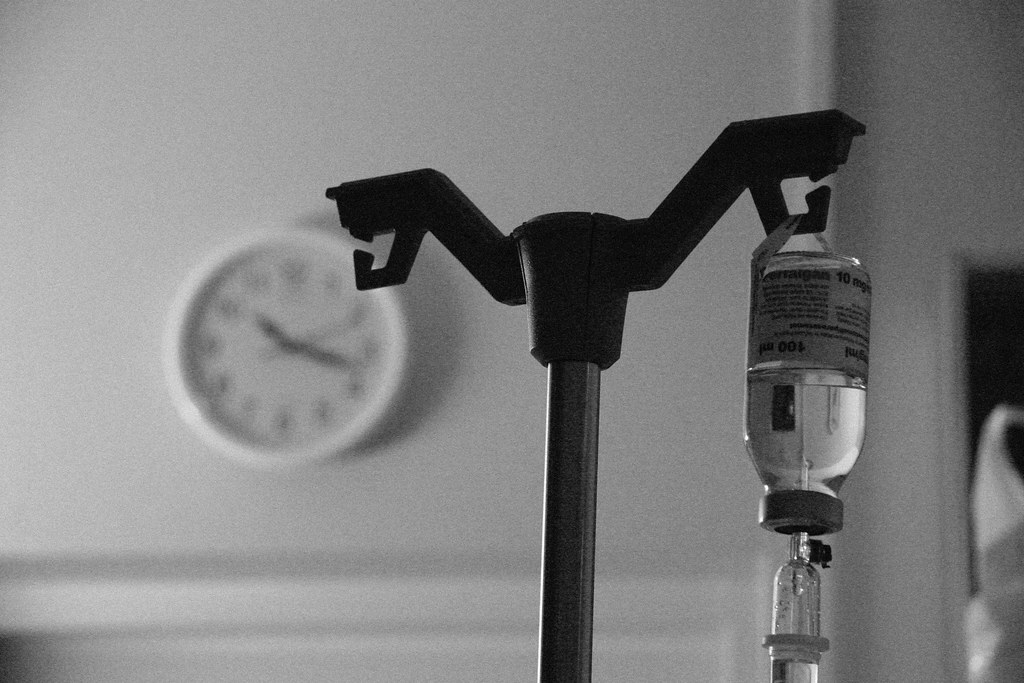 An intravenous fluid in a maternity ward