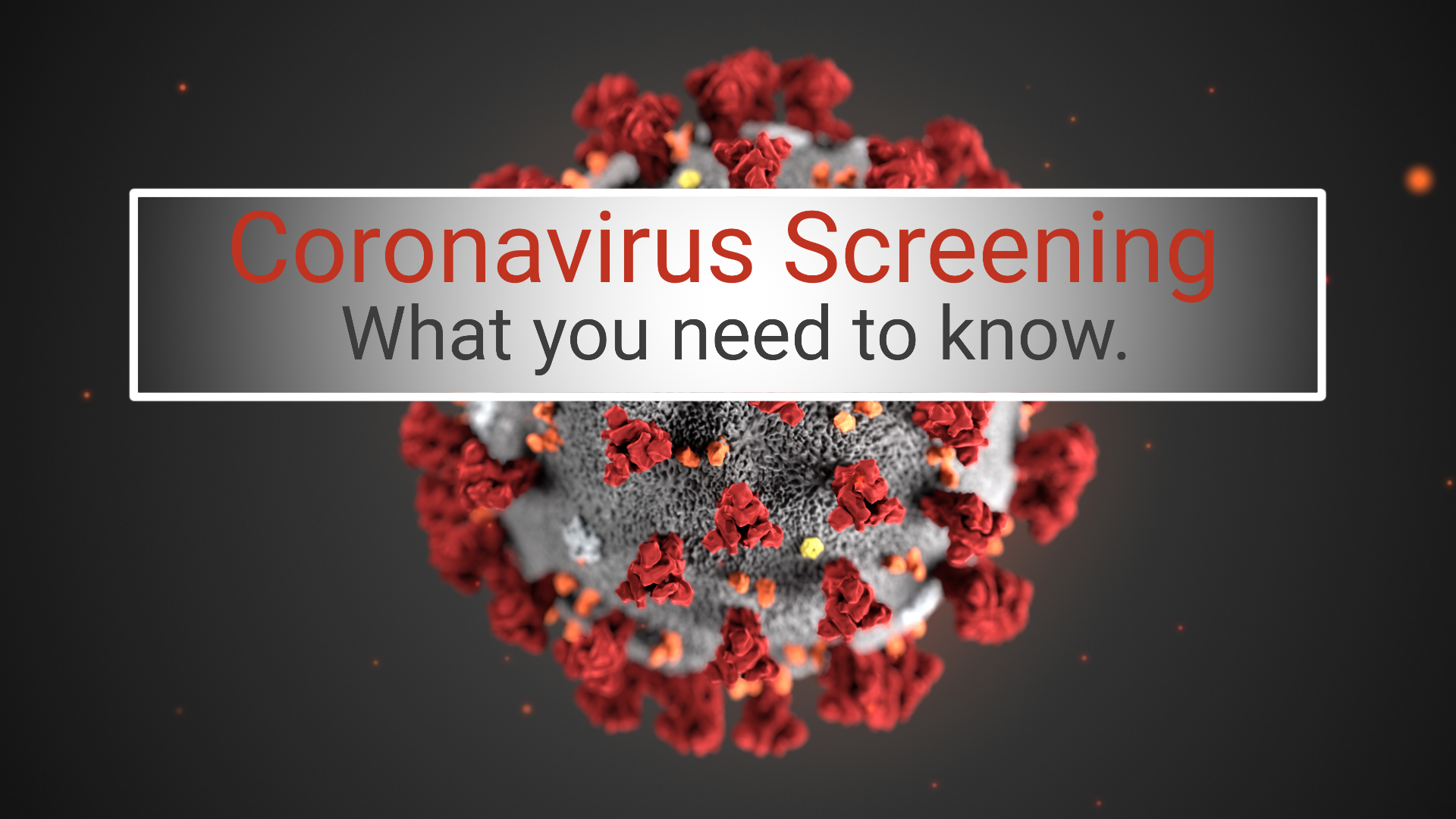 This banner image shows a virus and describes the article
