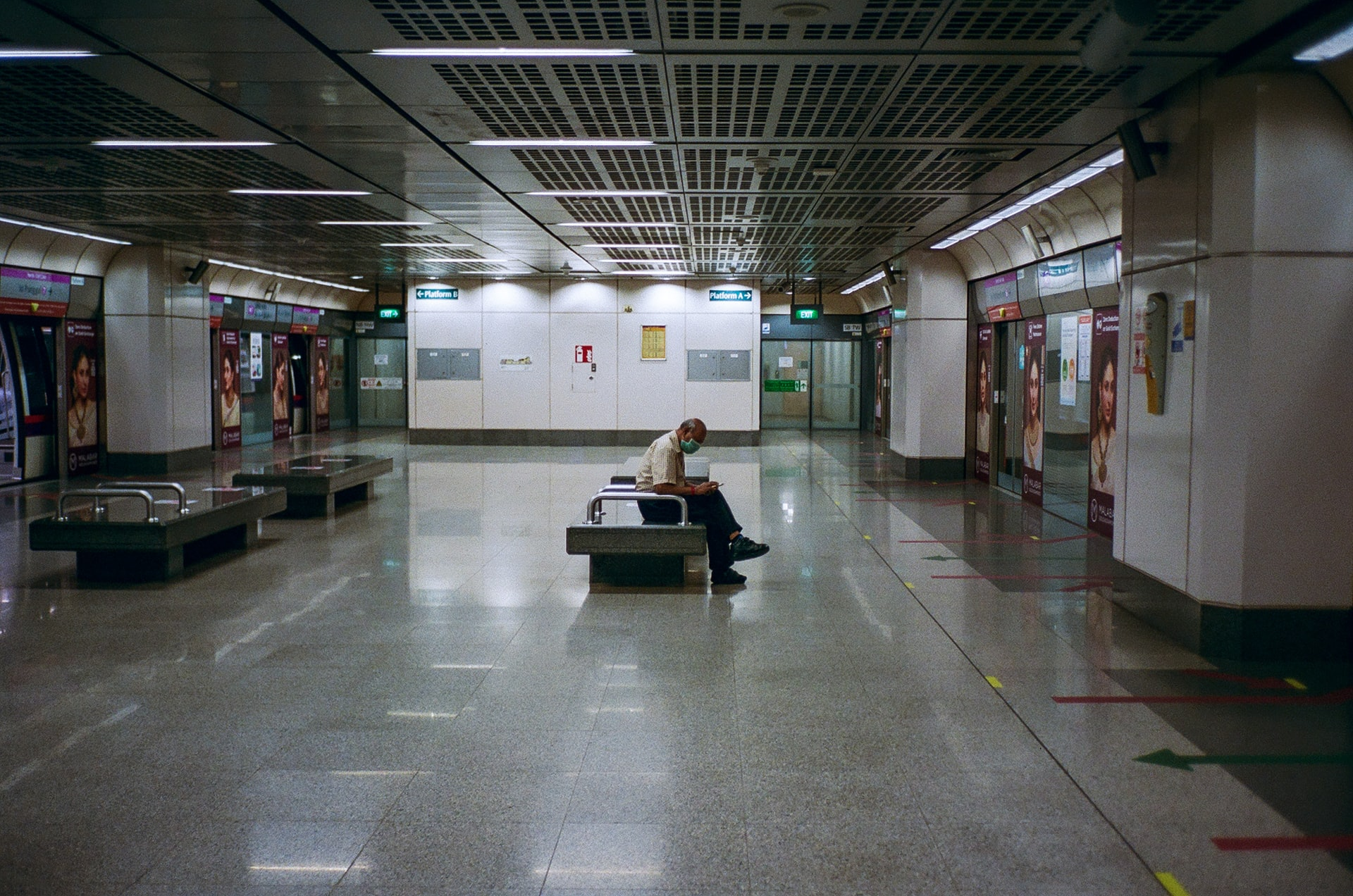Man alone at subway (Photo by Shawn Ang)