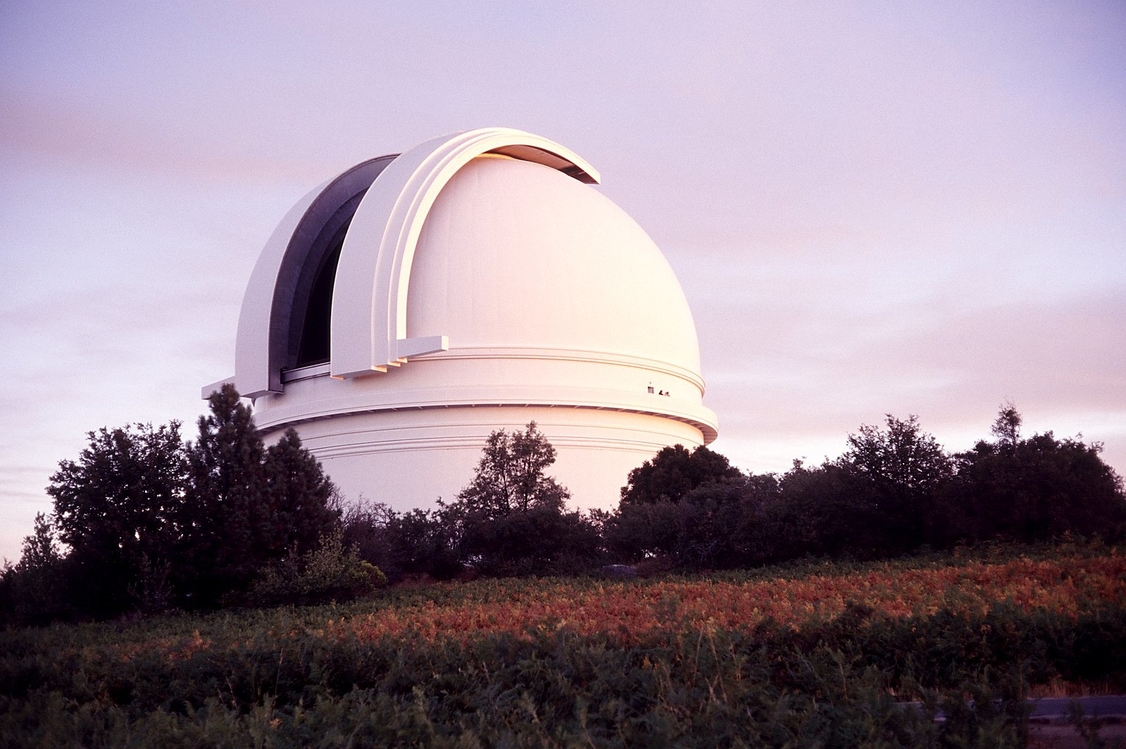 The Hale Telescope dome at the Palomar Observatory